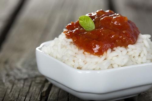 Receta arroz blanco con tomate