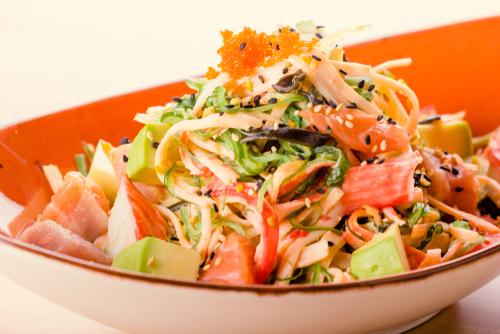 Receta de ensalada de cangrejo para sushi