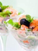Receta de ensalada de cangrejo y gambas
