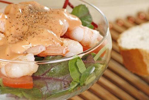 Receta de ensalada de cangrejo y salsa rosa