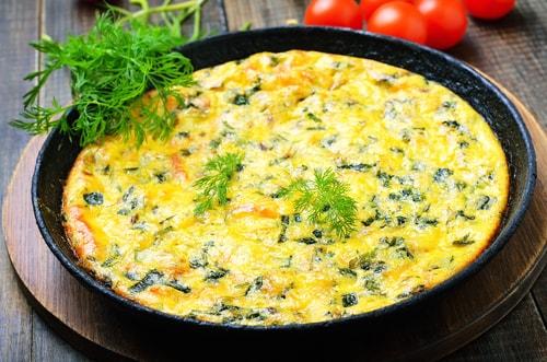 Receta de tortilla de calabacín y queso