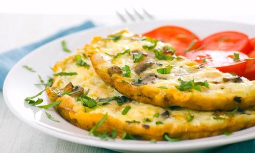 Receta de tortilla de espárragos y champiñones