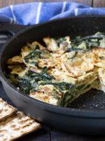 Receta de tortilla de acelgas y bacalao