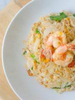 Receta de arroz blanco con gambas