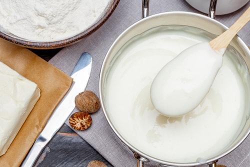 Receta de bechamel con leche y avena