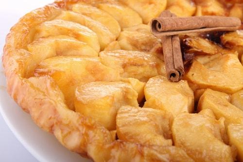 Receta de tarta de manzana y canela