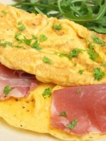 Receta de tortilla de ajos tiernos y jamón