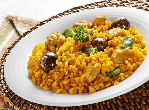 Receta de conejo con caracoles y arroz