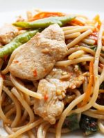 Receta de fideos chinos con pollo
