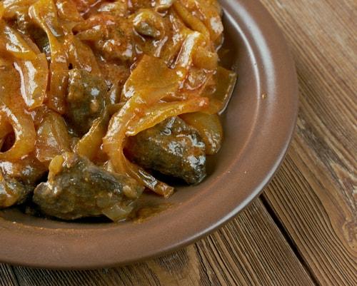 Receta de ternera en salsa con setas