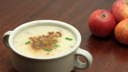 Receta de crema de puerros y manzana