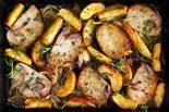 Receta de secreto ibérico al horno con manzana