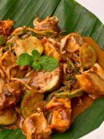 Receta de tempeh con champiñones