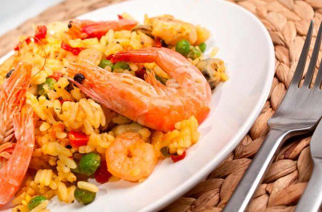 Receta de arroz con pulpo y gambas