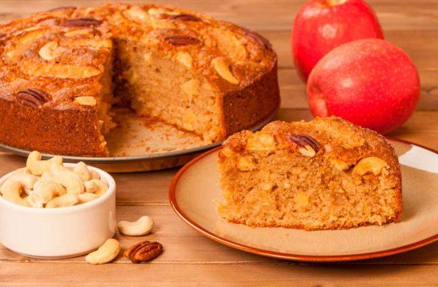 Receta de bizcocho integral de manzana
