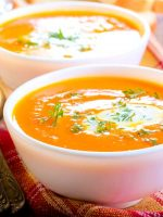 Receta de crema de coliflor y zanahoria thermomix