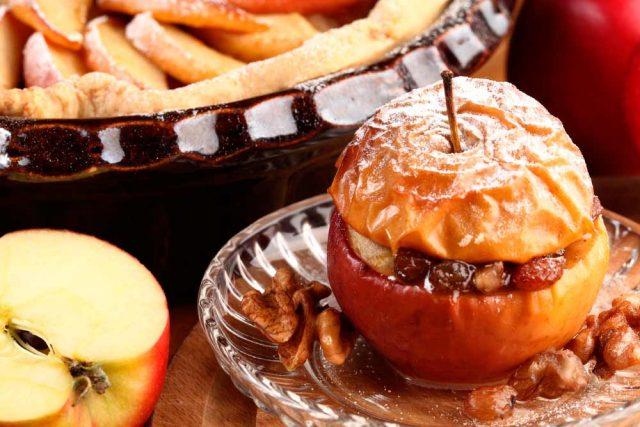 Receta de manzanas al horno rellenas de frutos secos