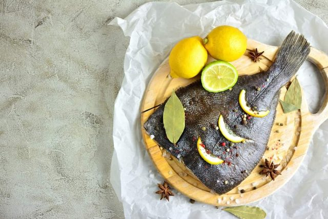 Receta de rodaballo al horno con limón