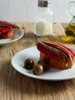 Receta de anchoas con pimientos