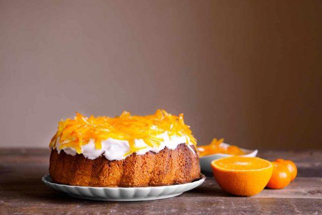 Receta de bizcocho de naranja y avena